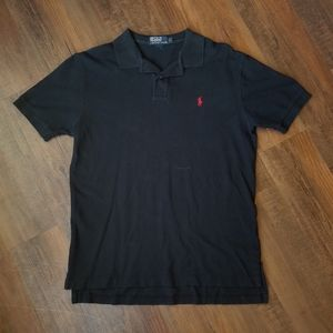 Black w/ Red Rider Polo by Ralph Lauren
